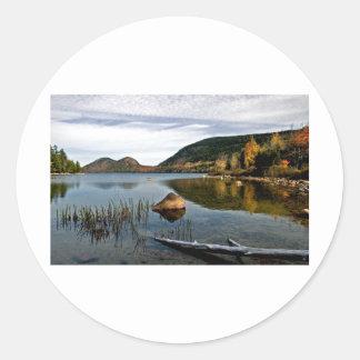 Jordan Pond Round Stickers