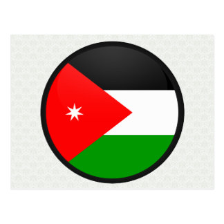 Jordan quality Flag Circle Postcards