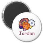 Jordan Refrigerator Magnet