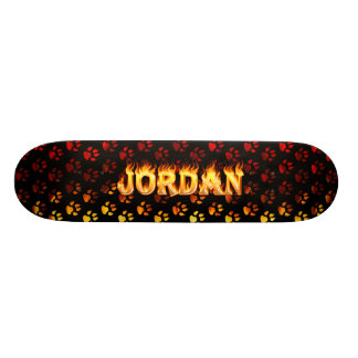 Jordan skateboard fire and flames design.