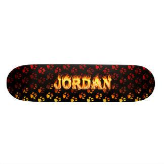 Jordan skateboard fire and flames design.