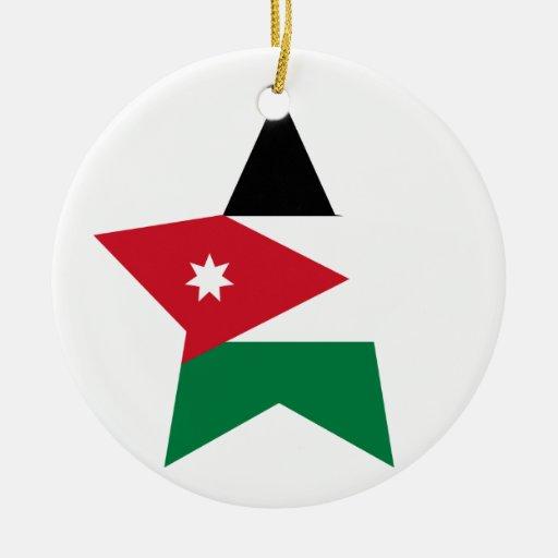 Jordan Star Double-Sided Ceramic Round Christmas Ornament