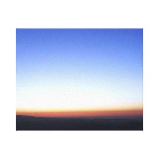 Jordan Sun Set Canvas Print