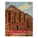 Jordan vacation Vintage Travel Poster.