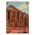 Jordan vacation Vintage Travel Poster. Card