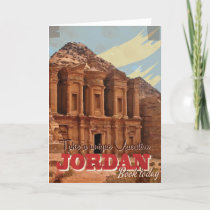 Jordan vacation Vintage Travel Poster.