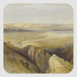 Jordan Valley, del volumen II 'del Land santo Pegatina Cuadrada