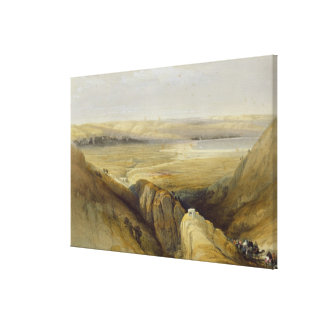 Jordan Valley, from Volume II of 'The Holy Land' Canvas Print
