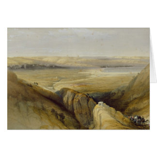 Jordan Valley, from Volume II of 'The Holy Land' Card