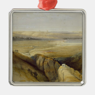 Jordan Valley, from Volume II of 'The Holy Land' Metal Ornament