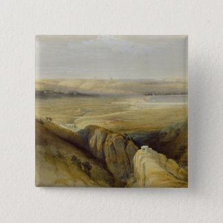 Jordan Valley, from Volume II of 'The Holy Land' Pinback Button