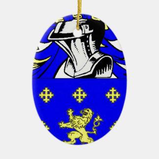 Jordania (inglesa) adorno navideño ovalado de cerámica