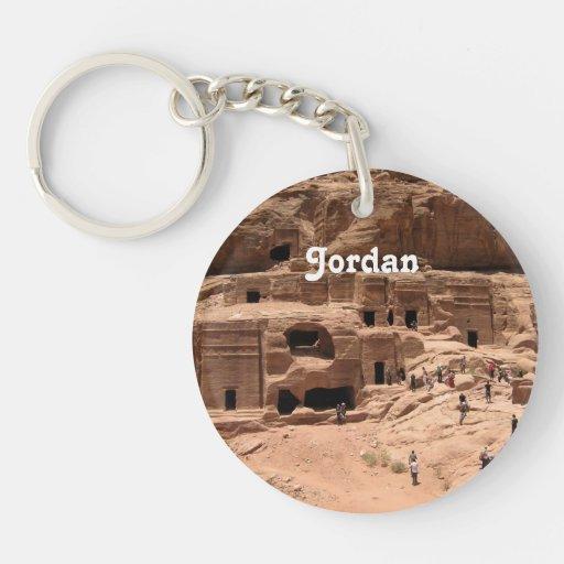 Jordania Llavero Redondo Acrílico A Una Cara