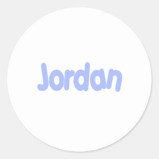 Jordania Pegatina Redonda