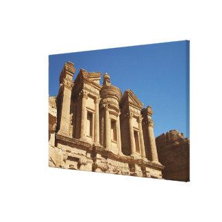 Jordania Petra el monasterio Al Deir 2 Impresión De Lienzo
