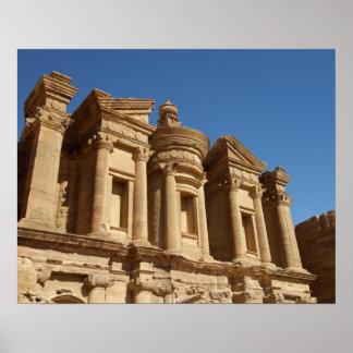 Jordania, Petra, el monasterio, Al Deir. 2 Póster
