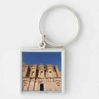 Jordania, Petra, el monasterio, Al Deir. Llavero Cuadrado Plateado