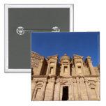 Jordania, Petra, el monasterio, Al Deir. Pin Cuadrada 5 Cm