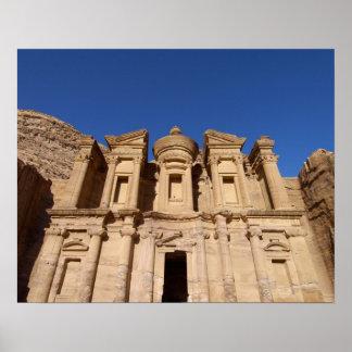 Jordania, Petra, el monasterio, Al Deir. Póster