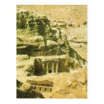Jordania, Petra, las tumbas cortadas roca de Nabat Tarjetas Postales