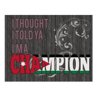 Jordanian and a Champion Postcard