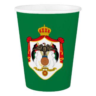 Jordanian coat of arms  paper cup