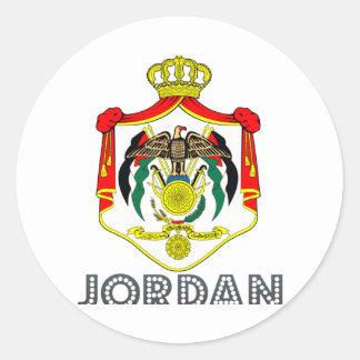 Jordanian Emblem Classic Round Sticker