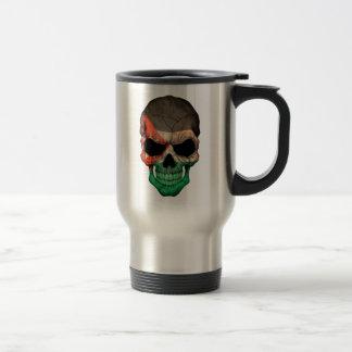 Jordanian Flag Skull Travel Mug