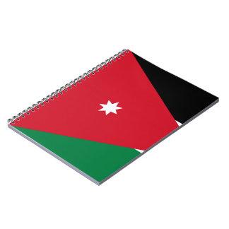 Jordanian Flag Spiral Notebook