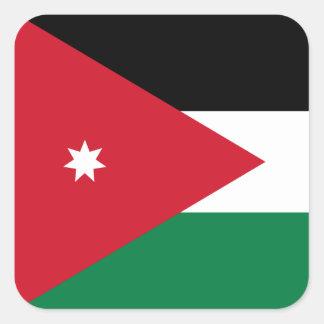 Jordanian Flag Square Sticker