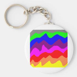 Jordan's Painted Rainbow Basic Round Button Keychain