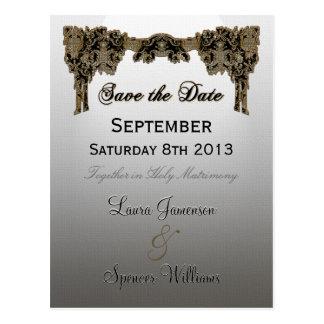Jordey Wedding Reminder Postcard