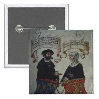 Jorge Fugger su esposa Regina Imhoff, 'Geheim Pin Cuadrada 5 Cm