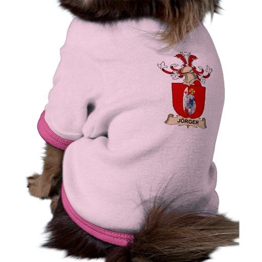 Jörger Family Crest Dog Tee Shirt