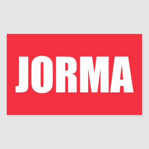 Jorma Rectangle Stickers