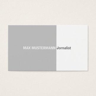 Jornalist visiting card