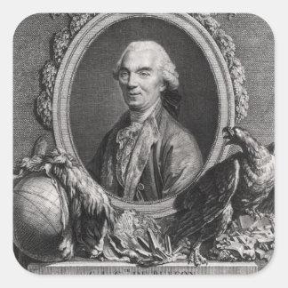 Jorte-Louis Leclerc Comte de Buffon Pegatina Cuadrada
