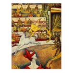 Jorte Seurat - Der Zirkus - circo Tarjetas Postales