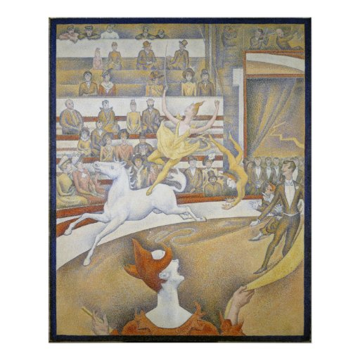 Jorte Seurat - el circo Póster