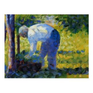 Jorte Seurat- el jardinero Postales