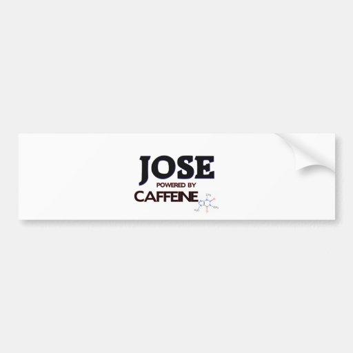 Jose accionó por el cafeína pegatina de parachoque