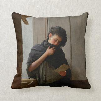 José Almeida Jr - Saudade (Longing) (1899) Throw Pillow