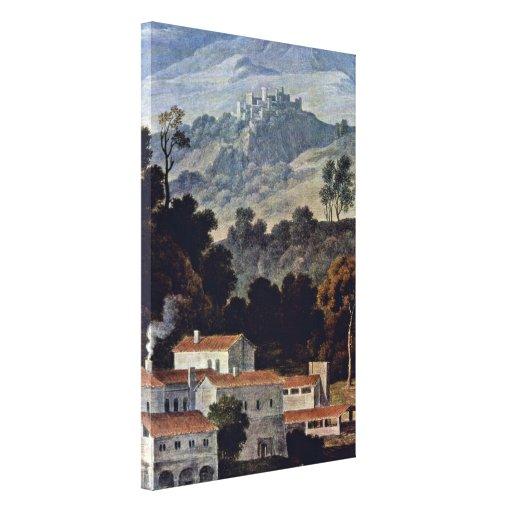 José Antón Koch - monasterio de San Francisco Impresión De Lienzo