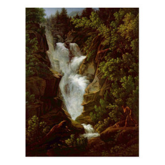 José Antón Koch - Wasserfall (cascada), 1796 Postal