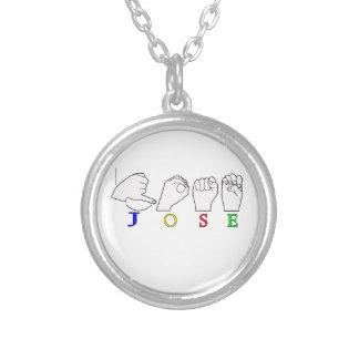 JOSE ASL FINGERSPELLED NAME SIGN MALE NECKLACES