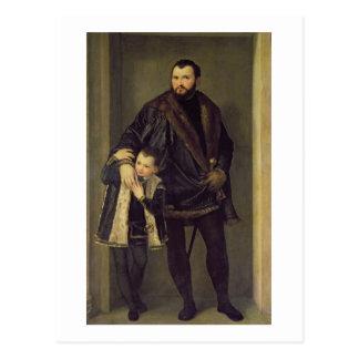 José DA Oporto y su hijo Adriano, c.1555 (aceite Postales