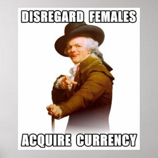 José Ducreux adquiere moneda Poster