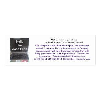 Jose Elias Laptop or Pc Computer Jose Elias Business Card