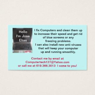 Jose Elias, Laptop or Pc  Computer, Jose Elias ... Business Card