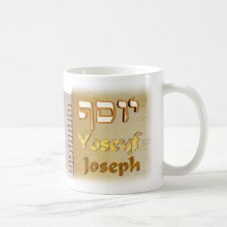 José en hebreo taza de café
